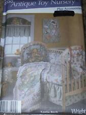 SIMPLICITY #5130 - ANTIQUE TOY NURSERY-QUILT-BUMPERS-CADDY-VALANCE PATTERN uc