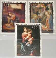 NIGER 1974 449-51 C245-47 Christmas Weihnachten Religion Paintings Gemälde MNH