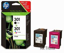 Genuine Original HP 301 Black & Colour Ink Cartridges for HP Deskjet 3050A