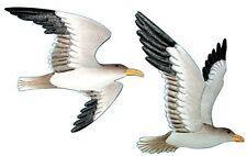 Wall Sculpture Metal Flying Seagulls Hanging Bird Art Ocean Beach Decor Set of 2