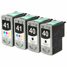 4-PACK Black / Color Ink Cartridges for Canon PIXMA MP210 Printer