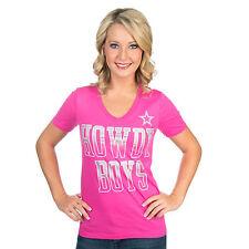 NFL Dallas Cowboys Pink Howdy Boys Tee, X-Large