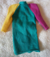 Vintage 1984 Barbie Tagged Colorblock #7905 Dress