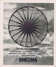 PUBLICITE ADVERTISING 025 1977 SNECMA moteurs d'avions
