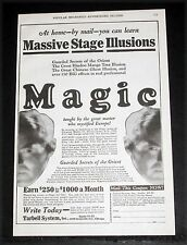 1927 OLD MAGAZINE PRINT AD, TARBELL SYSTEM, LEARN MASSIVE STAGE ILLUSIONS MAGIC!