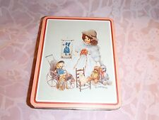 Collectible Vintage Bessie's Playmates H3842 1987 Giordano Art Ltd. Tin Can Box