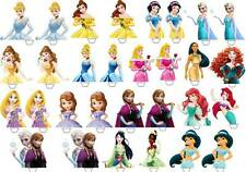 30 X DISNEY PRINCESS HALF BODY Edible Cup Cake Toppers Premium Wafer *STAND UP*