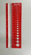 Knit Pro View Sizer for Gauging Knitting Needle Sizes N010701