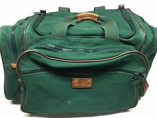 Lands End Direct Merchant Square Rigger Green Canvas Duffle Carry On Bag