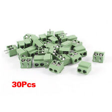 30Pcs 2 Pole 5mm Pitch PCB Mount Screw Terminal Block 8A 250V YM