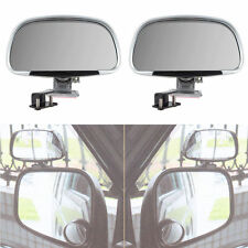 2x Universal Car Blind Spot Side Rear View Mirror Wide Angle Mirrors Silver New