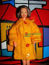 manteau chic barbie grand mère happy family jaune orangé sexy label qualité