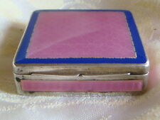 ENAMEL COLOR PINK BLUESTERLING Face powd POUDRIER BOX EMAIL ARGENT MASSIF
