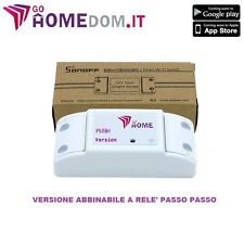 PULSANTE WIFI WIRELESS PER RELE' PASSO PASSO SMARTPHONE ANDROID IPHONE