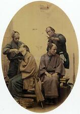 Japanese Barbers 1850 Japan Felice A Beato 7x5 Inch Reprint Photo Samurai?