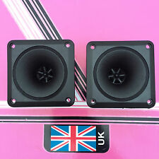(Pair) Square Horn Piezo Tweeters 88mm x 88mm disco speaker replacement