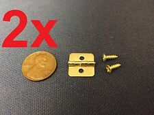 2 Pieces - gold Color Mini Butterfly Hinges Cabinet Drawer Jewelry Box DIY c11