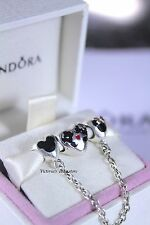 Pandora Disney Mickey&Minnie Hearts Safety Chain + Mickey&Minnie Kissing Charm