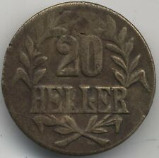 1916 T German East Africa 20 Heller Obverse B Reverse A***Collectors***Scarce***