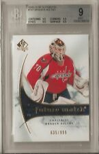 BRADEN HOLTBY RC BGS 9 2009-10 UPPER DECK SP AUTHENTIC #197 SER# 635/999 CAPS