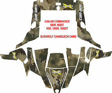 Can am Commander side by side utv Wrap Decal Sticker kit bushwolf chameleon camo