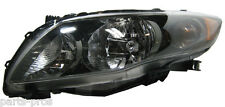 New Replacement Black Headlight Assembly LH / FOR 2009-11 TOYOTA COROLLA S & XRS