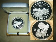 2006 Taiwan $100 High Speed Rail Train proof silver coin with COA & BOX