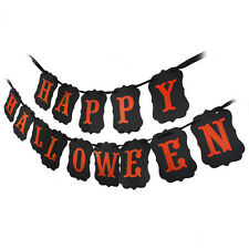 RETRO HAPPY HALLOWEEN PARTY STRING BANNER DECORATION ACCESSORY PUMPKIN