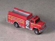 N Scale 2007 Red Ford with Gold Stripes Fire Pumper