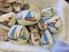 20xPebbles Nautical Theme Gift Art Christmas Shabby Chic Decoupage Garden Rock