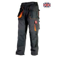 Work Trousers Mens Cargo Combat Style Heavy Duty  Pants Knee pads pockets