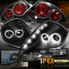 Mitsubishi Eclipse Halo Projector LED Headlight + Signal Light+ Tail Light Black