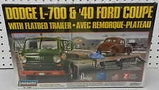L 700 FLAT BED TRAILER TRUCK 40 FORD RAT ROD DODGE BOYS MOPAR LINDBERG MODEL KIT