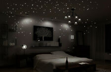 Wall Tattoo shining Starry Sky Lights Fluorescent Stars 256 Pieces
