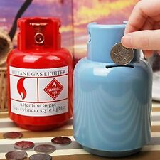 Saving Pot Money Box Funny Toy Gas Cylinder Piggy Bank Cent Penny Buck