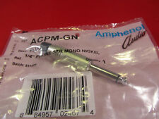 "AMPHENOL ACPM-GN-AU 1/4"" TS UNBALANCED / MONO AUDIO PHONE CONNECTORS, 10 Pack"