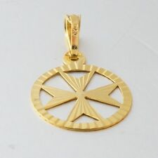 Amalfi Malta MALTESE CROSS Jewelry Hallmarked 9ct Gold Pendant Charm Genuine 375