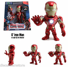 "JADA CAPTAIN AMERICA CIVIL WAR 6"" IRONMAN FIGURE with LIGHT UP ARC REACTOR 97564"