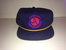 New York Transit Jamaica Queens Depot Bus Baseball Hat Vintage Leather Strap NYC