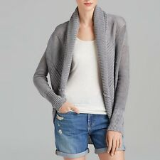 NWT $345 VINCE Silver Grey Linen Knit Circle Cardigan Sweater - S Small (2-4-6)