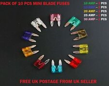 10PCS KIA CAR FUSES SET MINI BLADE *10 15 20 25 30AMP* TOP QUALITY