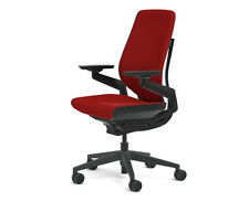 Steelcase Gesture Chair Adjustable Cogent Connect Shell Black Frame Scarlet Red