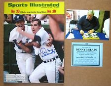 1968 Denny McLain 30 wins Sports Illustrated -Signed by Denny McLain !