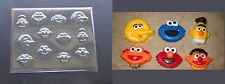 Sesame Street Faces Bite Size Chocolate Candy Soap Crayon Mold