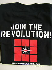 RARE RUBIK'S REVOLUTION LOGO PROMOTIONAL T-SHIRT MENS SIZE - MEDIUM NEW
