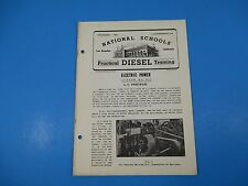 1940's Diesel Training National Schools Lesson #EP-3 A.C. Principles 16pgs M986