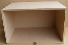 1:12 Scale Dolls House Display Flat Pack Large Room Shadow Box Kit (No Acetate)