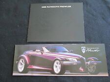 1997 2000 Plymouth Prowler Rare Intro Brochure Set 97 & 00 Sales Catalog Folder