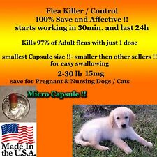 Flea Killer Dogs / Cats 2-30 lb generic Capstar 6 Micro Capsules Factory Sealed