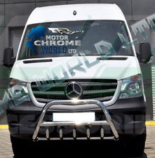 MERC. SPRINTER, VW CRAFTER BULL BAR CHROME AXLE NUDGE A-BAR 2014+Up S.STEEL NEW
